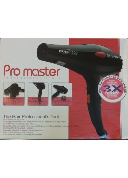 PRO MASTER HAIR DRYER 3600